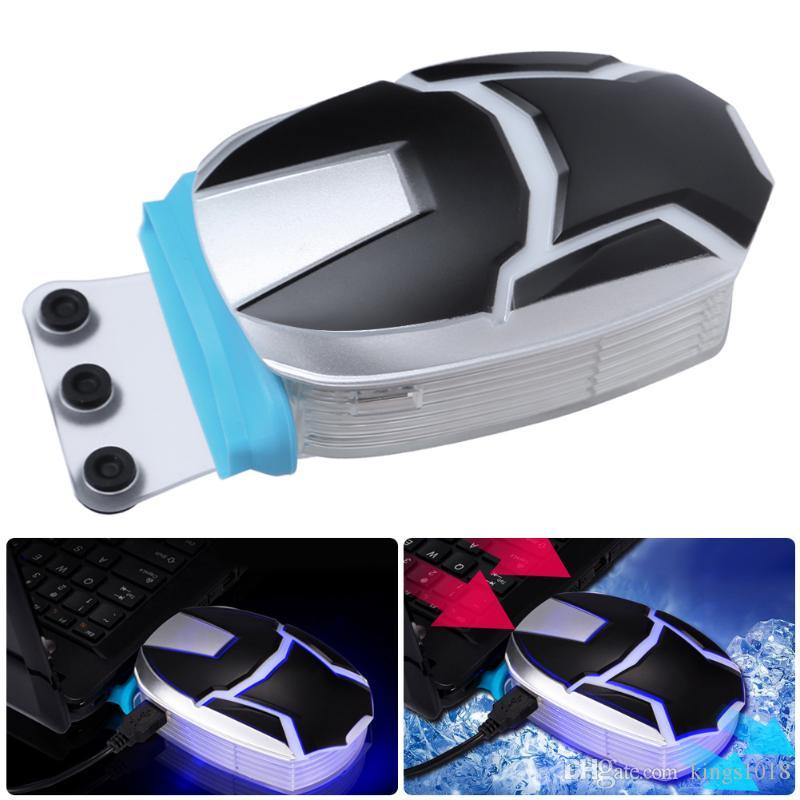 External Laptop Cooling Pads Low Noise DC 5V Strong Exhaust Radiator Vacuum Air Extracting Cooling Fan for Laptop PC Computer