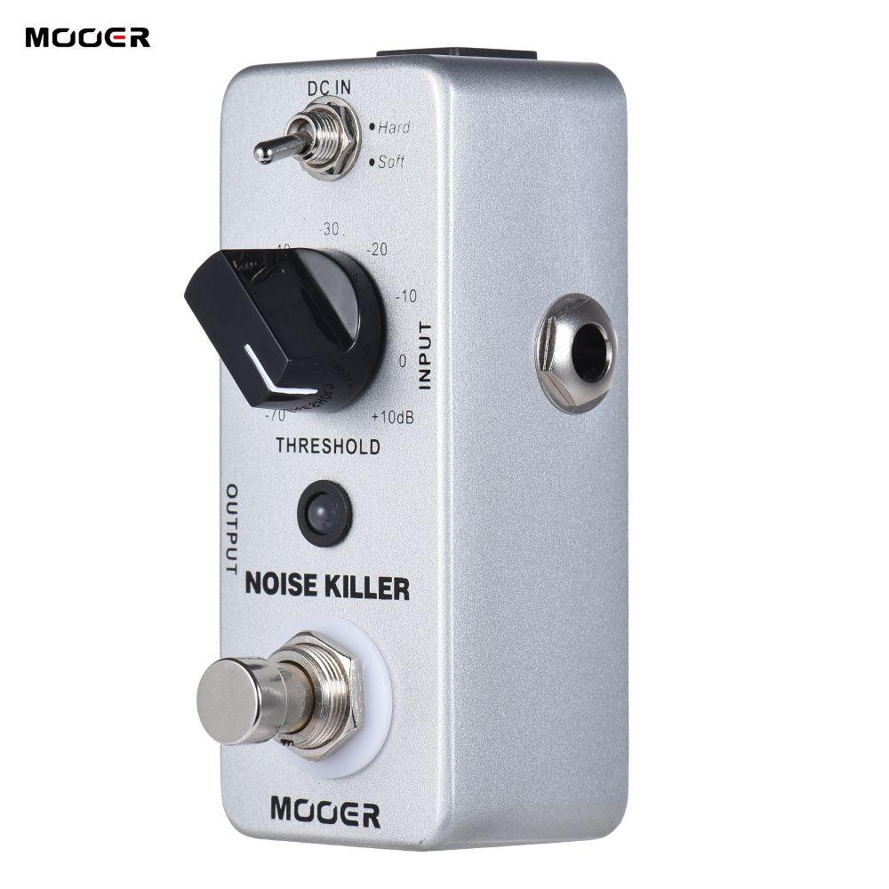MOOER GÜRÜLTÜ KILLER Mini Gürültü Azaltma Gitar Efekt Pedal 2 Modları Gerçek Bypass Tam Metal Kabuk