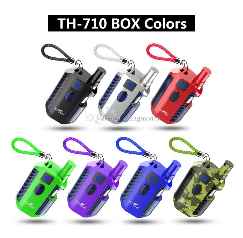 100% Original Kangvape TH710 Kit 650mAh Adjustable Voltage TH-710 Battery Box Mod 0.5ml Thick Oil CE3 Cartridge For Liberty Tank DHL free
