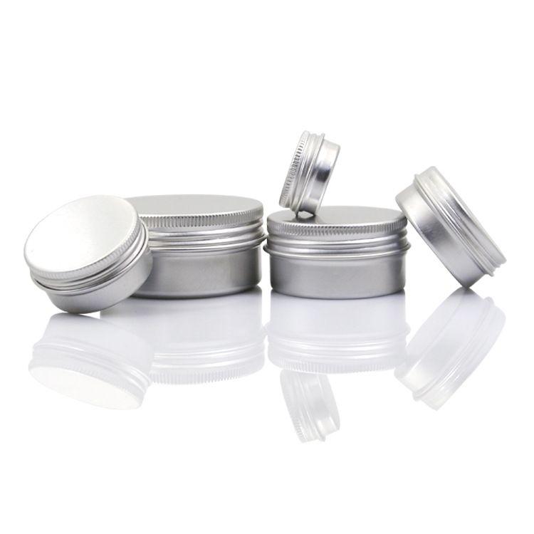 Boş Alüminyum Dudak Balsamı Konteynerler Kozmetik Krem Kavanoz Kalay El Sanatları Pot Şişe 5 10 15 30 50 100g