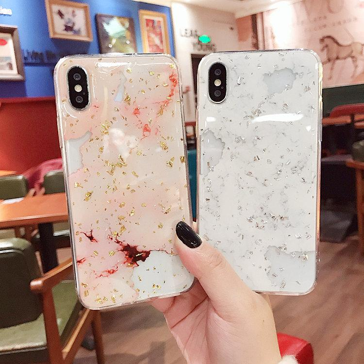 Per Iphone X Case Gilding Marble Per Iphone 6s Custodia in silicone All-in-one