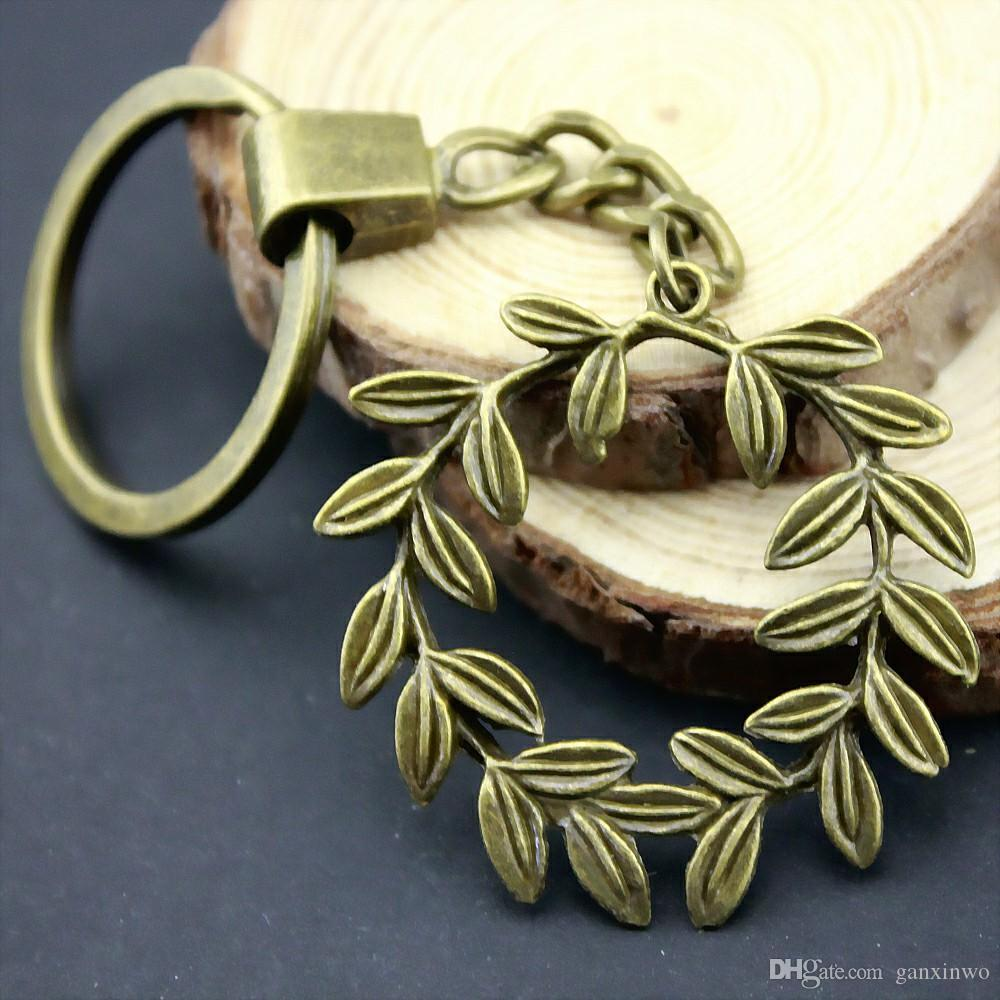 6 Pieces Key Chain Women Key Rings Car Keychain For Keys Olive Branch 41x36mm