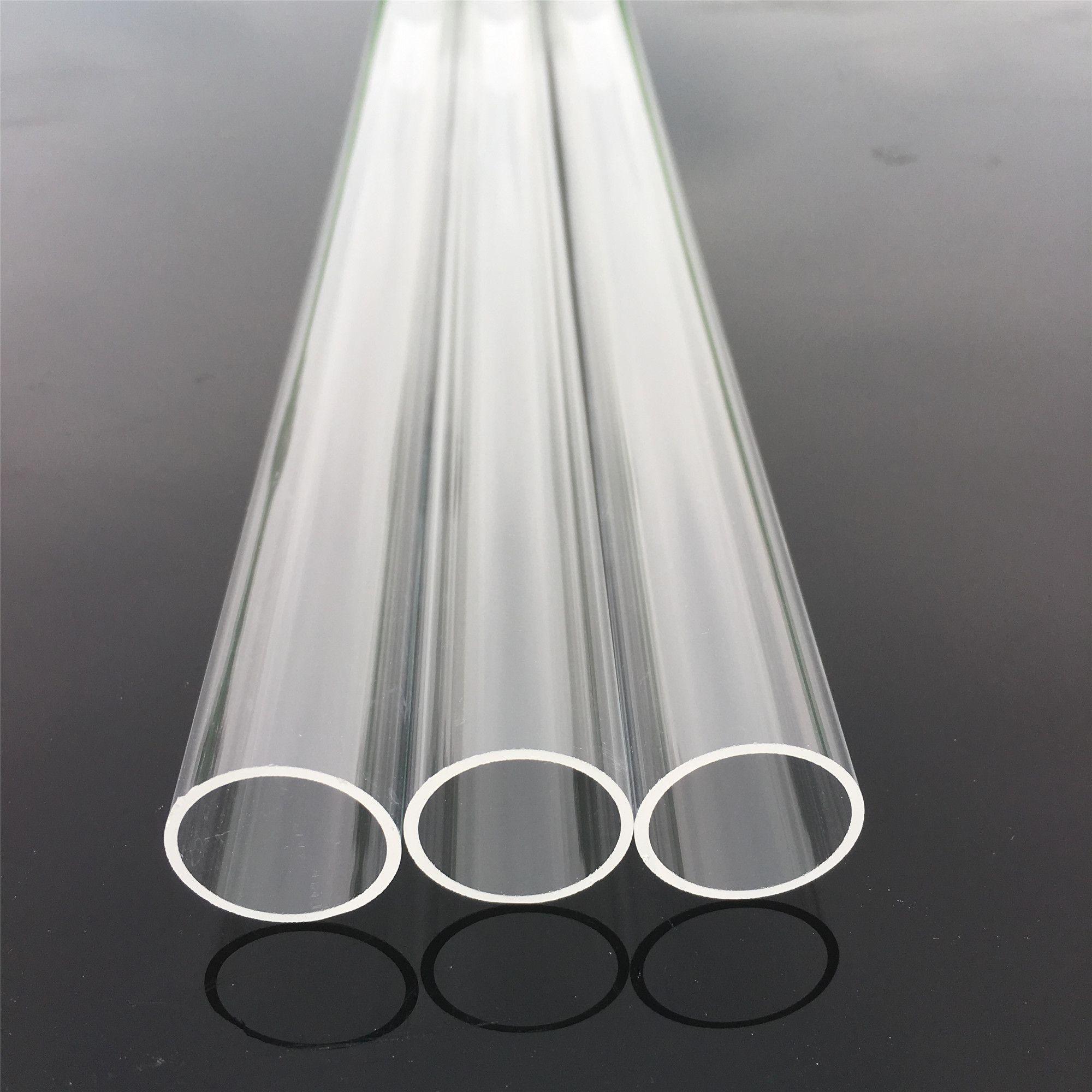 Altos tubos de cuarzo industrial y científico de alta claridad de 300 mm de diámetro de 21 mm de espesor 1 mm Tubo de cuarzo de cuarzo resistente al calor 1 mm