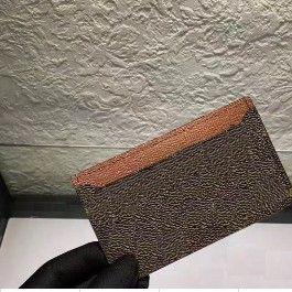 Женщины и мужской дизайн повседневные кредитные кожаные карты установить французскую приливную карту ID Держатель кошельки Дарие графита холст сумка с коробкой 62666