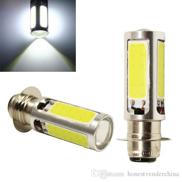 2X H6M PX15d Qualitäts-Xenon-Weiß COB-LED für ATV Auto Motor Fahrrad-Scheinwerfer-Birnen-Nebel-Licht-Lampe DC12V