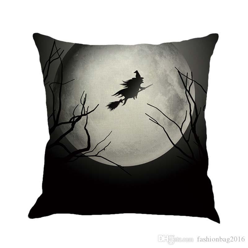 DHL libre NUEVO Happy Halloween Castillo de calabaza almohadas 45 cm * 45 cm Fundas de cojines de estilo europeo / funda de almohada
