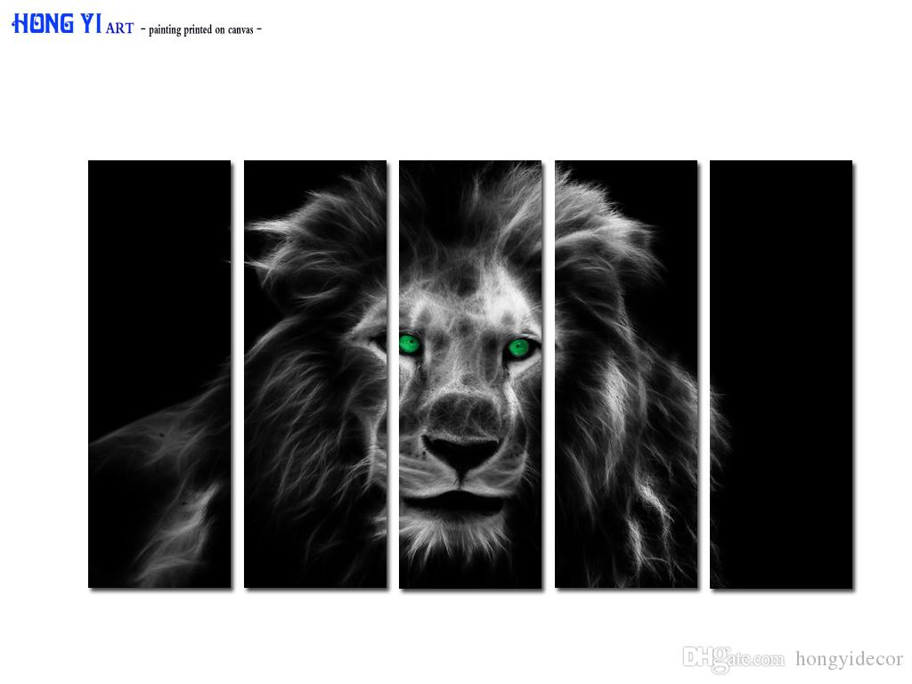 Large Contemporary Hot Sale Art Wall Animal Lion Head oil painting Picture Printed on canvas for Living Room Bedroom Home Decor Aset197