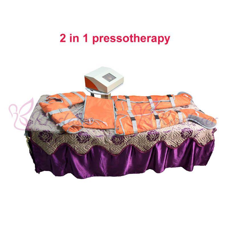 Nuevo viene 2 en 1 Presión de onda de aire Calor lejano Cuerpo de presoterapia que adelgaza la máquina de pérdida de peso