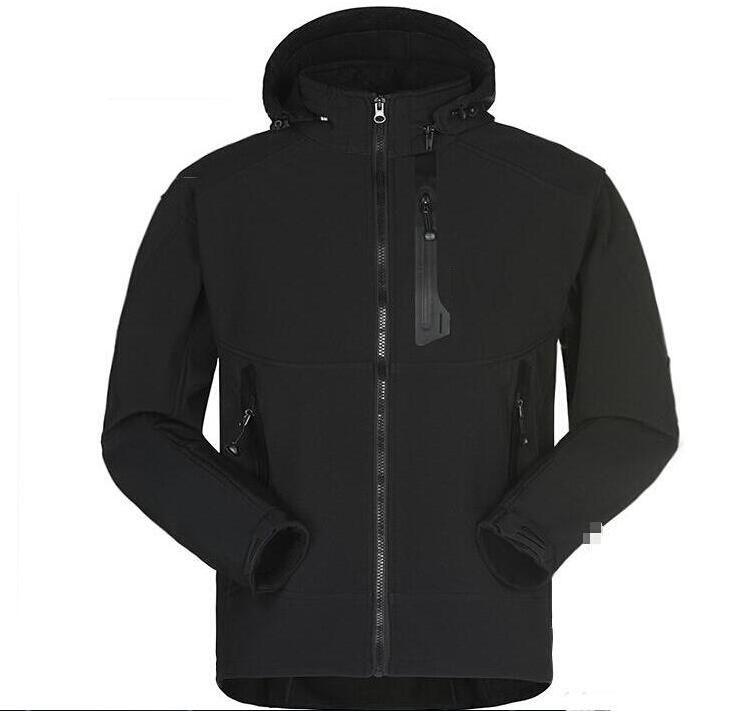 Chaqueta Softshell impermeable de los hombres de la chaqueta de los hombres al aire libre las capas de deportes esquí de las mujeres Excursión a prueba de viento de invierno Outwear Soft Shell