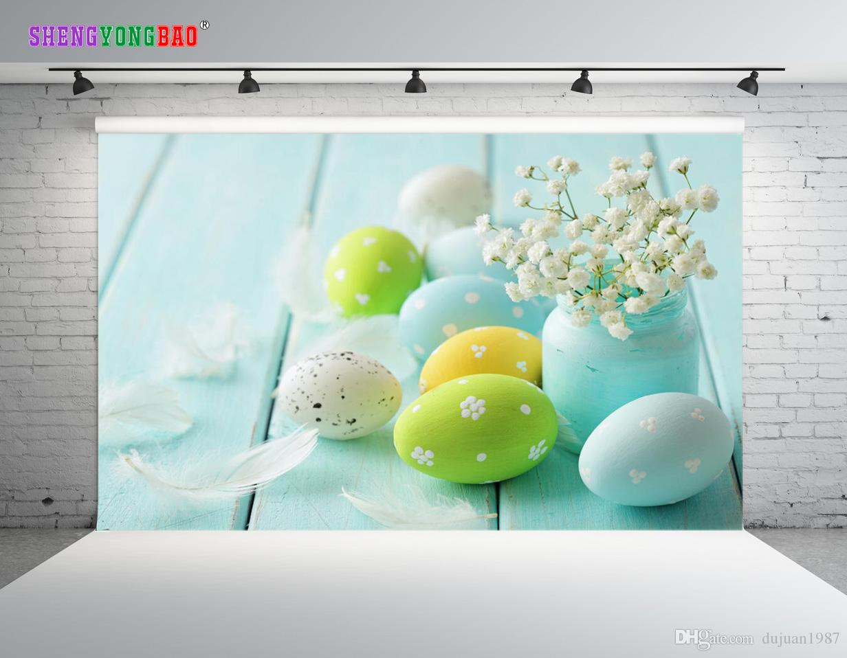 Vinyl Custom Easter day theme Photography Backdrops Prop digital printed Photo Studio Background ZP-151