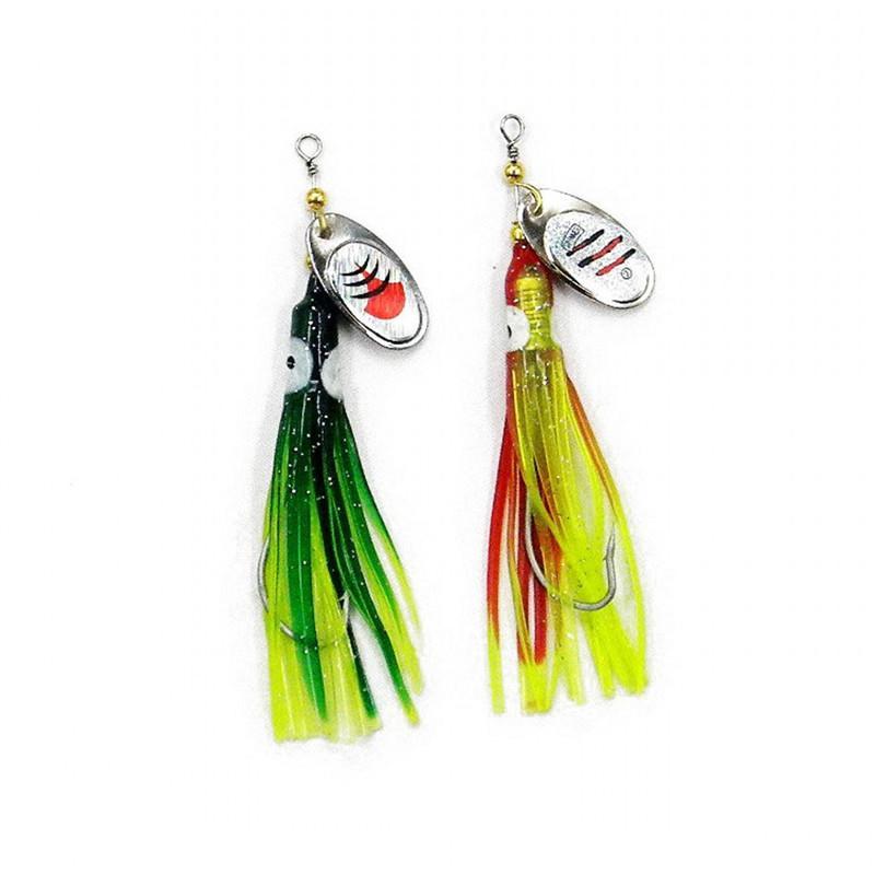 Мягкие пластиковые черви Spinner рыбалка приманки 2 цветов 7.5 г 3D глаза пресноводные один крюк Spinnerbaits борода креветки приманки