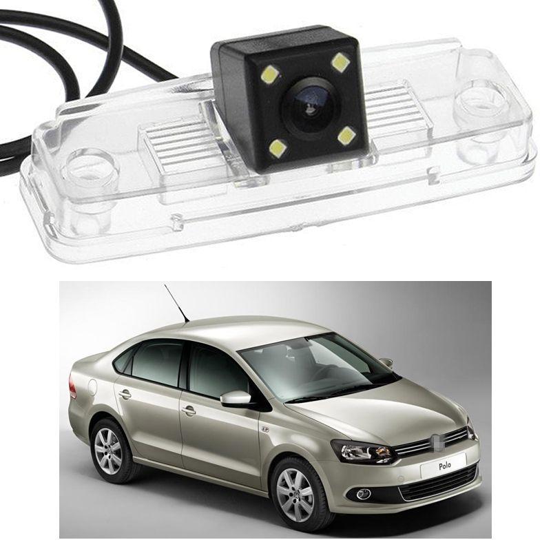 Novo 4 LED Câmera de Visão Traseira Do Carro de Backup Reversa CCD apto para VW Polo Saloon 2011-2014 12 13