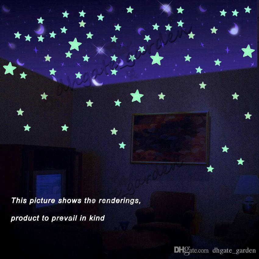 Großhandel 3D Wandaufkleber Aufkleber Sternenhimmel Wand Decke Glow In The  Dark Leuchtende Sterne Aufkleber Kinderzimmer Kinderzimmer Wandaufkleber ...