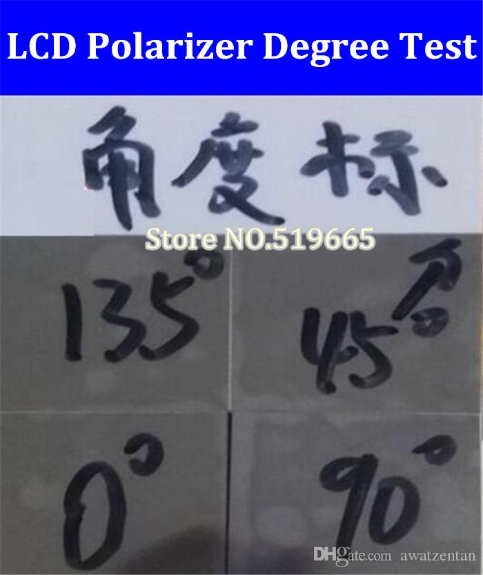 New 0/45/90/135 degree Polarizer Film Angle Testing Tools/for 15/15.6/17/27/37/32/42inch 32 inch LED/LCD Screens