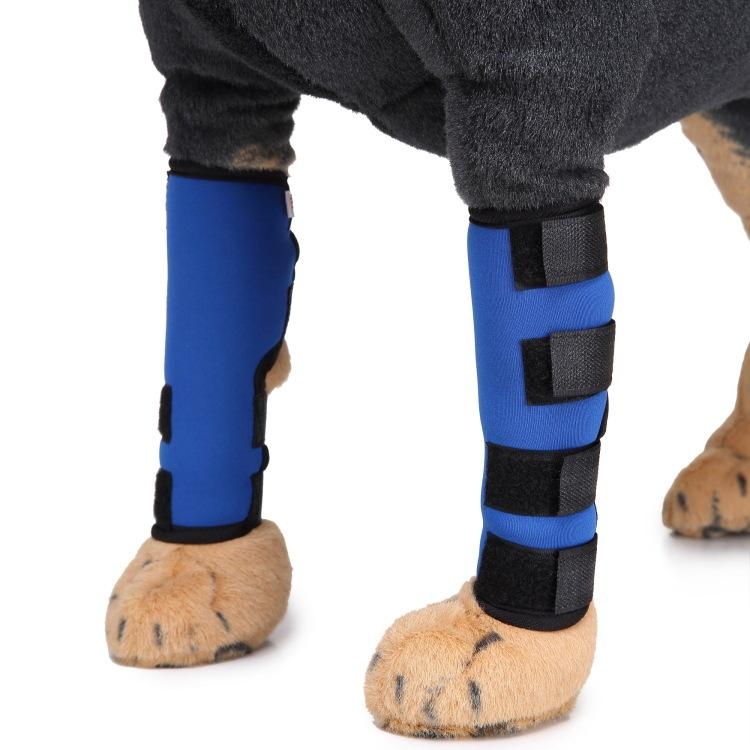 دعامة الركبة للكلاب الكلاب الجروح الخلفية لحماية الساق المفصلية مع ضمادة التفاف شفاء ضغط هدفين يشفي الالتواء يساعد S M L