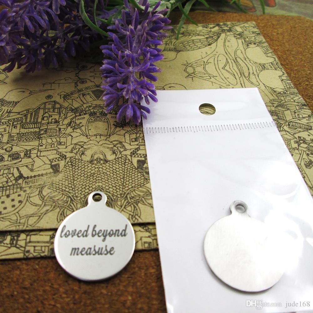 40шт - «любил за measuse» прелесть нержавеющей стали больше стиля для выбора DIY очаровывает подвески для ожерелья