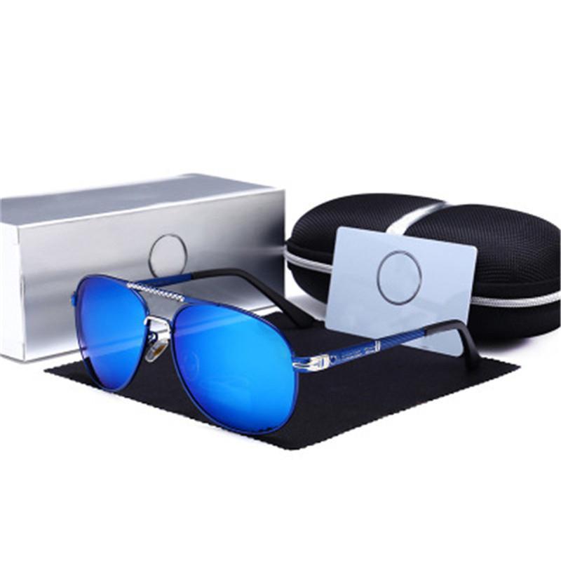 HD$ 2018 Men Aluminum Sunglasses HD Polarized UV400 Mirror Male Sun Glasses Women For Men