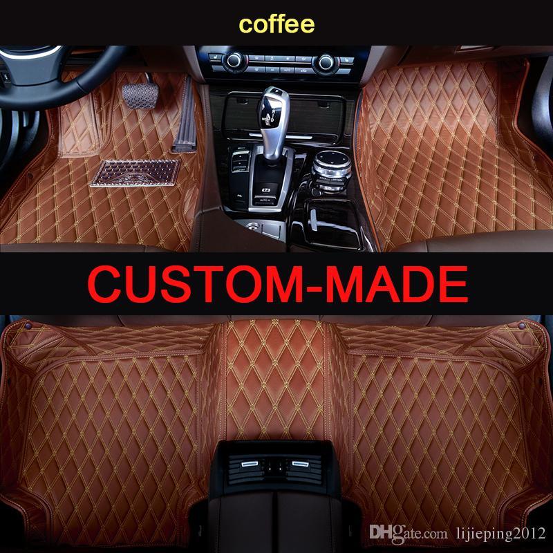 Veeleo Özel-Fit Deri Tesla Land Rover için Araba Paspaslar Tüm Modeli Su Geçirmez kaymaz Araba Paspasları 3D halılar