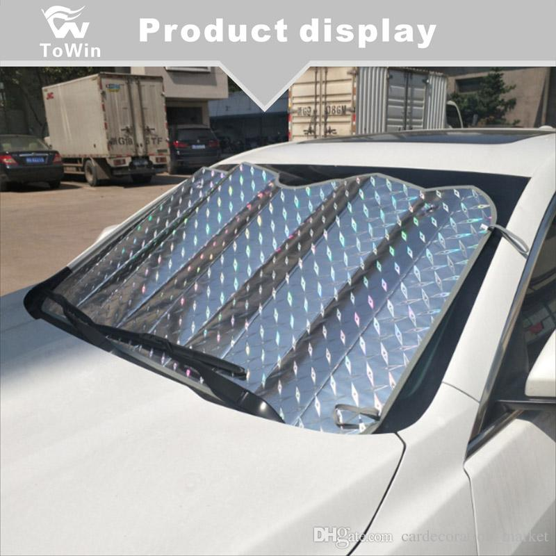 Лобовое стекло автомобиля Солнцезащитный козырек, снегозащитный покров, солнцезащитный козырек переднего стекла, протектор ветрового стекла All Seasons, подходит для большинства автомобилей SUV (тонкий)