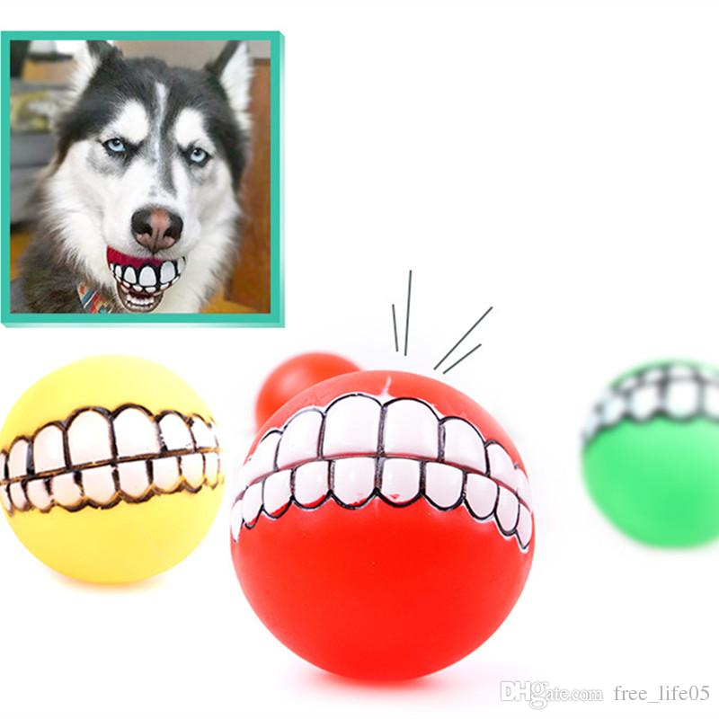 Perro Rotocast Squeak Screaming Ball Toy Pet Dogs Juguetes de vinilo para Husky Medium Big Dog Training Chew Grind Teeth Toy Envío de la gota