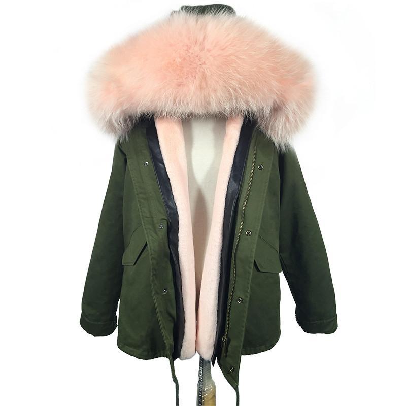 Großhandel Soperwillton Neue 2018 Winterjacke Frauen Armee Grün Große Waschbären Kragen Pelzmantel Farben Parkas Outwear Jacken Weibliche # A444 Von