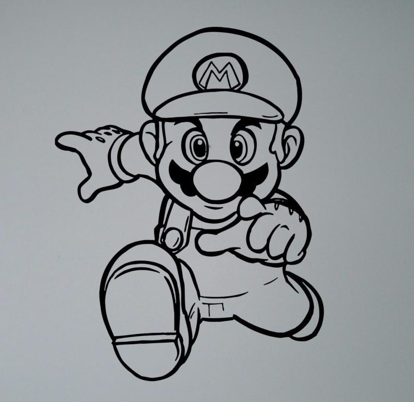 Removable Wallpaper for kids room decor Retro Video Game Hero Vinyl Decal Super Mario Wall Sticker