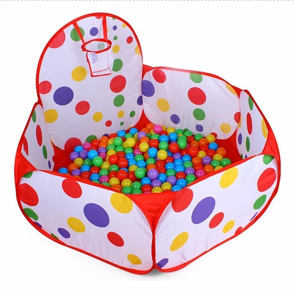 Pop up Hexagon Polka Dot Children Ball Play Pool Tent Carry Tote Toy for Kids