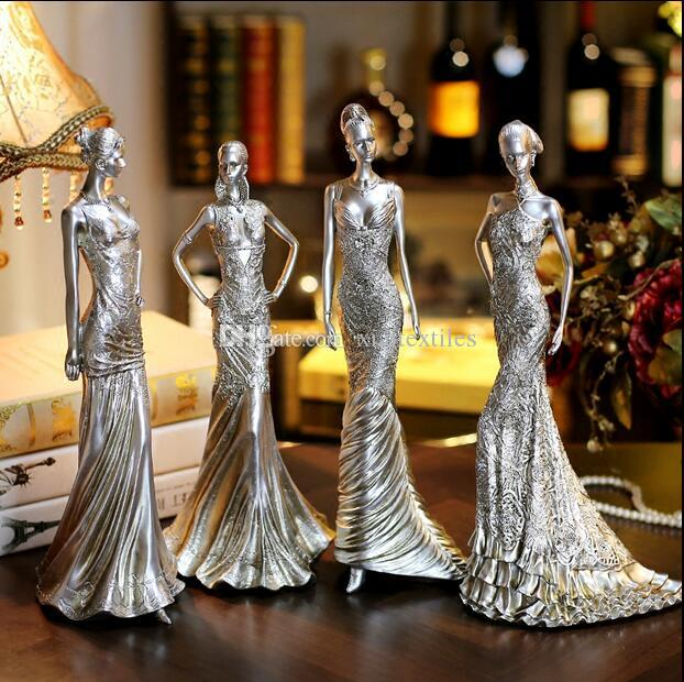 4style Women's creative home accessories furnishings resin crafts Wedding clothing store decorations ornaments Female mannequin 1pc C547