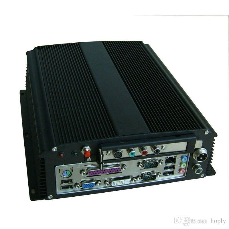 Araba PC Oyun Için PCI ile Itx Durumda Endüstriyel Gömülü IPC PC Muhafaza, WallMount Bracke Alüminyum Kılıfları