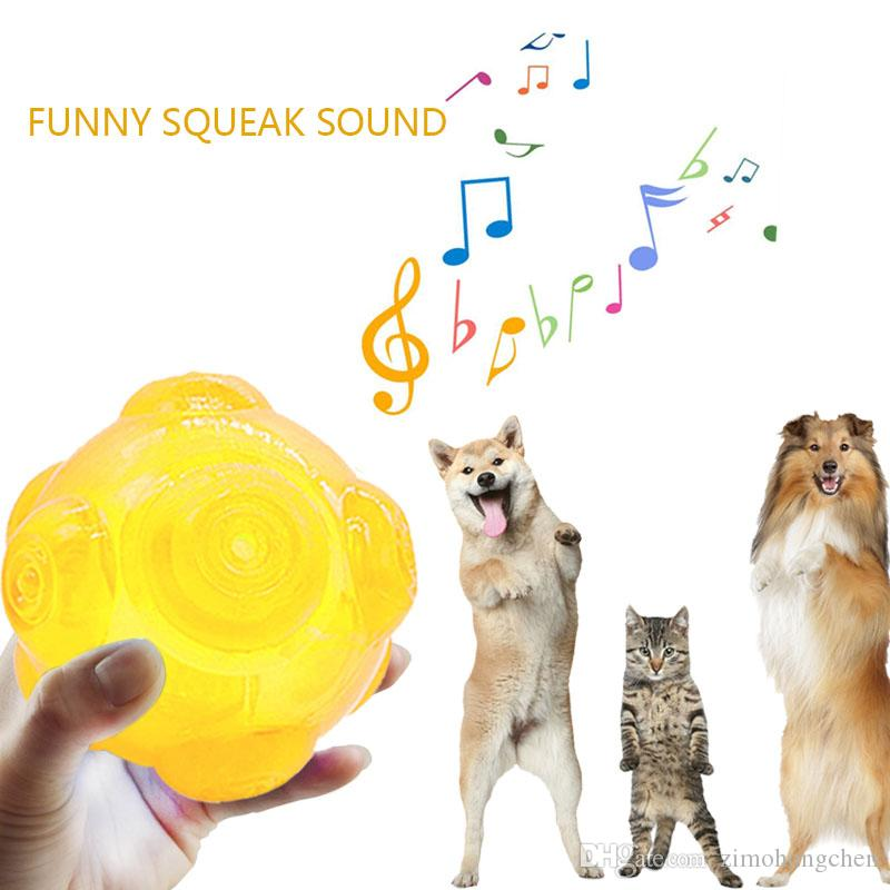 Caucho chirrido juguetes del perro para los perros grandes bolas Pequeño divertidos juguetes interactivos para mascotas perro juguetes para masticar Durable Balones de entrenamiento
