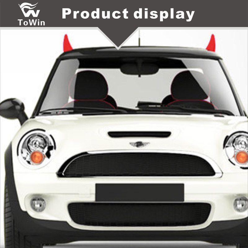 3D araba stereo Araba Çıkartmaları fidan filiz şeytan boynuz boynuz boynuz satmak sevimli anti-çarpışma yaratıcı kişilik araba dekorasyon / Yüksek kalite