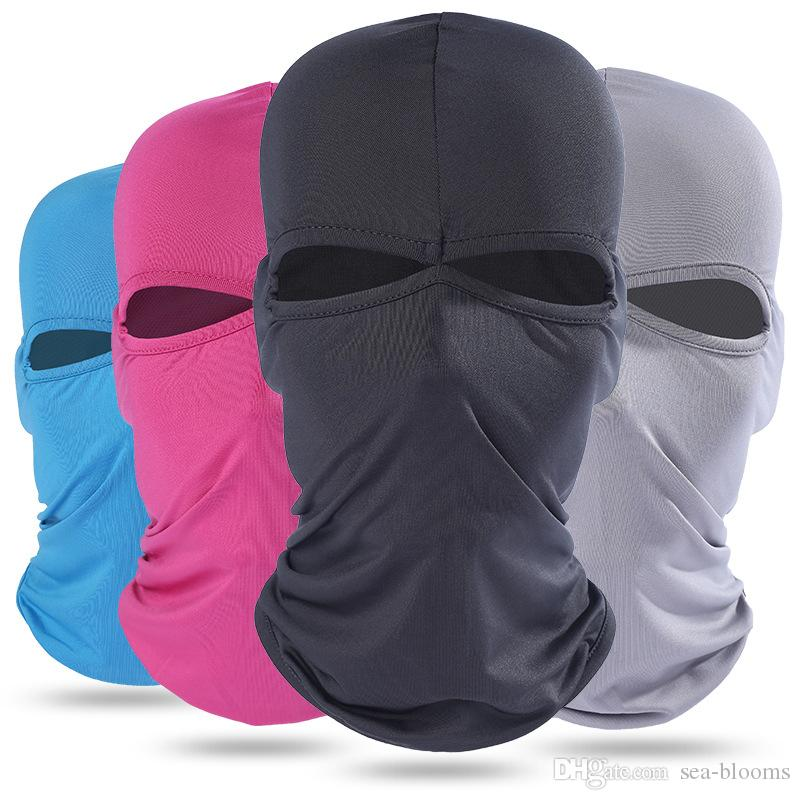 Summer Breathable Quick-Drying Full Face Mask Headgear Outdoor Sports Protective Balaclava Headgear Sun-protection Windproof Free DHL H689F