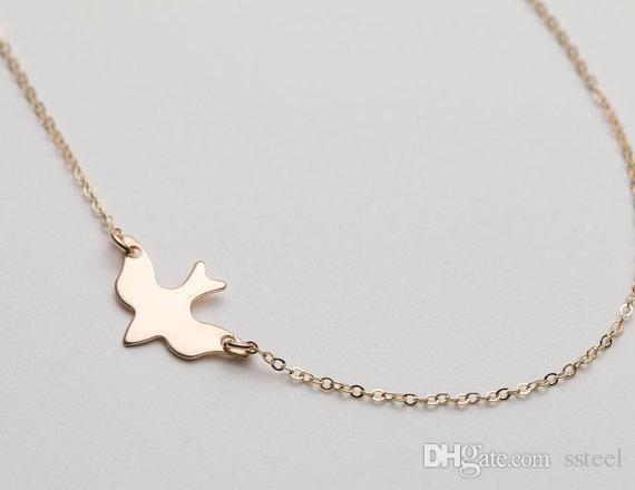 10pcs Peace symbol swallow Cute Peace Dove pendant charm Necklace Sparrow Necklace Flying Origami Swallow Necklace Tiny Baby Bird Necklaces