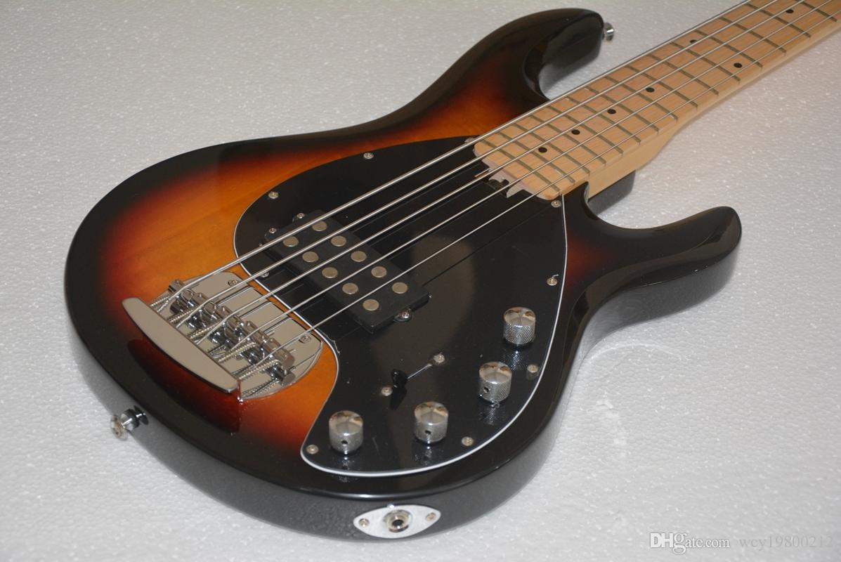 New Arrival 5 strings Bass Sunburst Electric Bass guitars OEM Musical instruments Free Shipping