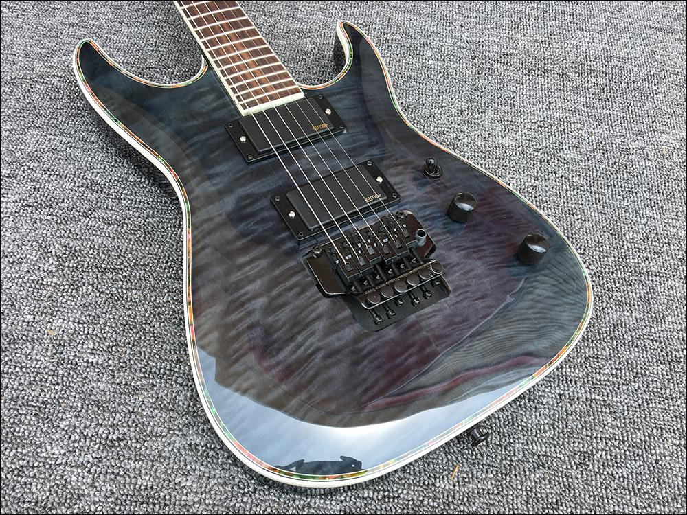 2018 New 6 - string 24 Frets Custom shop Electric Guitar,Black hardware with Tremolo bridge, High Quality Guitarra!