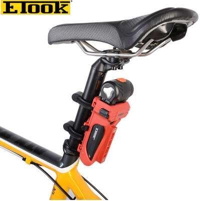 Etook ET350 Bicicletta in lega di alluminio antifurto serratura pieghevole 750mm FlipLock bicicletta serrature accessori ciclismo, 3 colori livello 3