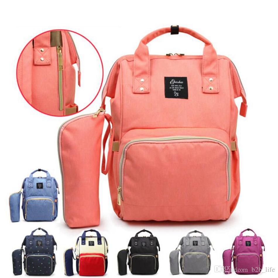 Mama Umstands Windel-Windel-Beutel-große Kapazitäts-Baby-Tasche Reisen Rucksack Desinger Pflegetasche für Babypflege 20pcs OOA3370