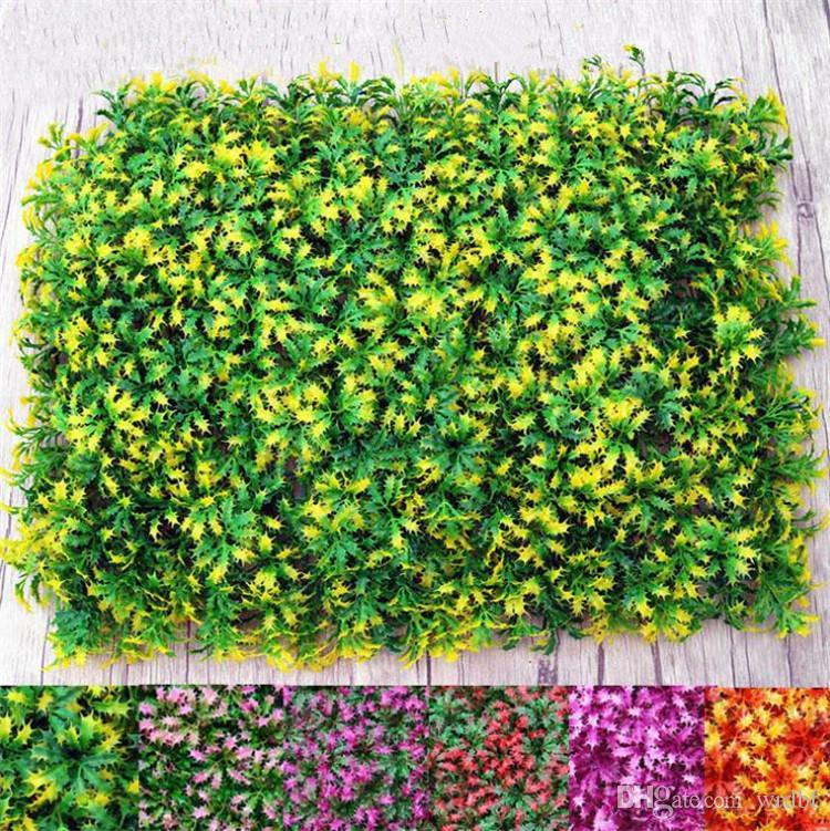 HOT Plastic Christmas Grass Lawn Mat Wall Grass Turf 60*40cm Green Plant Fake Turf Green Wall for Supper Market Plaza Arrangement