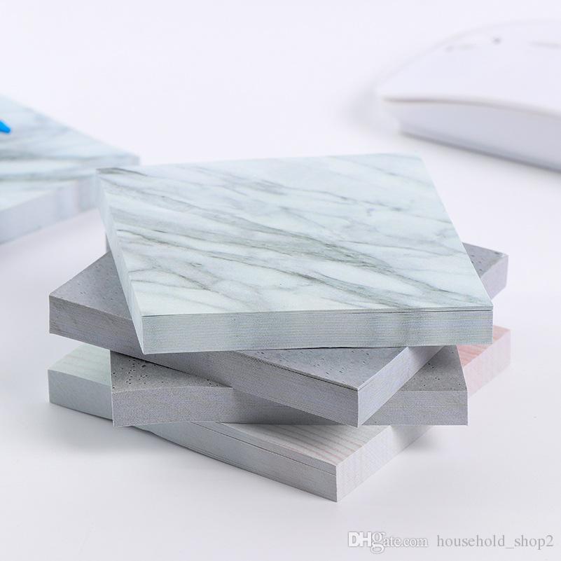 MINI المحمولة دفاتر اللون من الرخام لزجة تلاحظ مذكرة الوسادة مثبت دفاتر الملاحظات مدرسة مكتب المنزل العرض