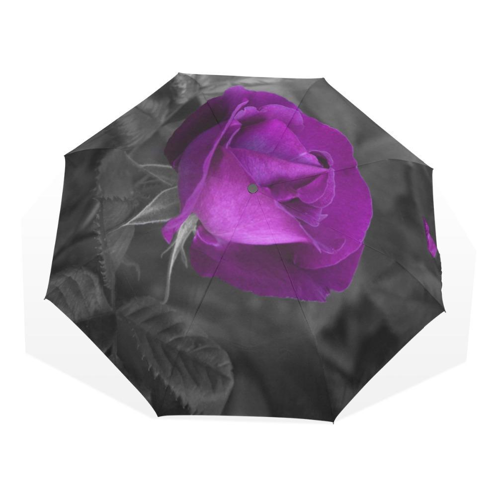 Valentinstag-Blumen-Rosen-Paern-Regen-Frauen-Regenschirm-kompakter windundurchlässiger und tragbarer Haltbarkeits-Reise-faltbarer Regenschirm