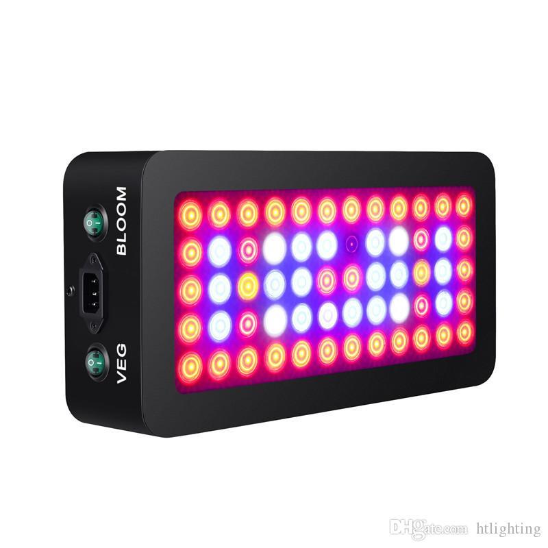 600W Full Spectrum LED crece ligero Regulable Veg / Bloom Interruptor de iluminación ajustable para la planta médica de interior Invernadero Flor vegetal