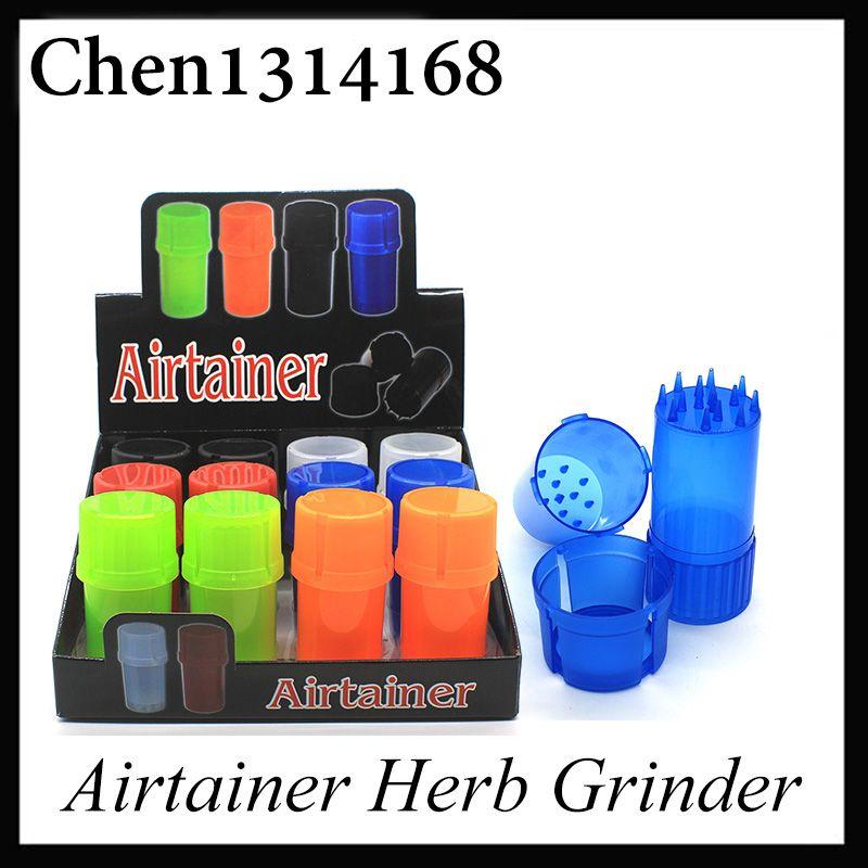 Najnowszy AirTainer 2 w 1 ziołowy szlifierka kontenerowa ziół tytoń magazyn akrylowy styl butelki pięć kolorów 0266214-1