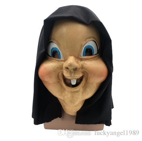 2018 New Arrival The film and television death mask scary witch full head mask with big eye funny halloween mask party props free shipping