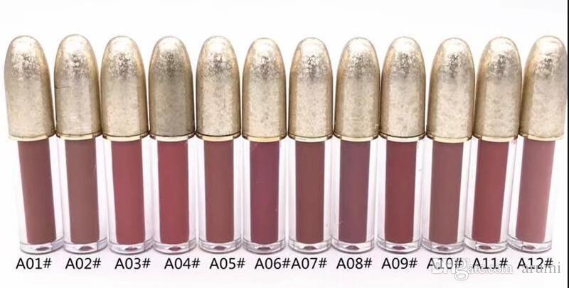 NUOVO BRAND makeup Christmas Collection Matte Liquid Lipstick 12 colori Lip Gloss Spedizione DHL