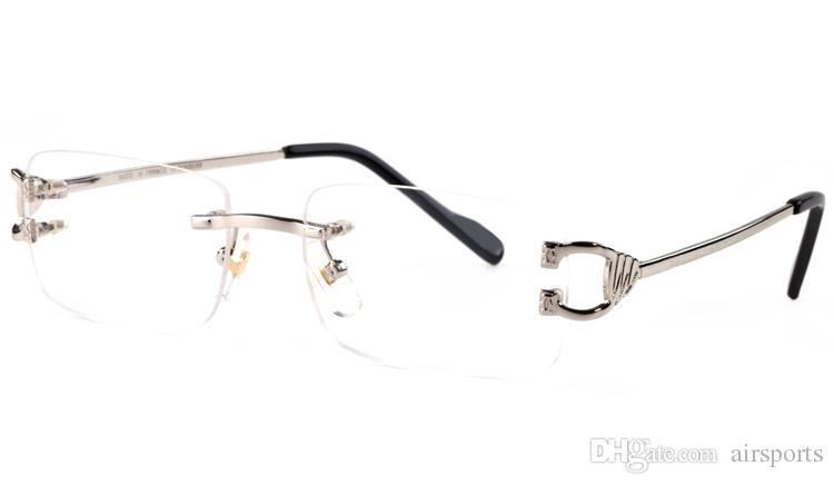 Compre Nuevo Marco De Gafas Sin Montura Rimless Para Hombres Gafas ...