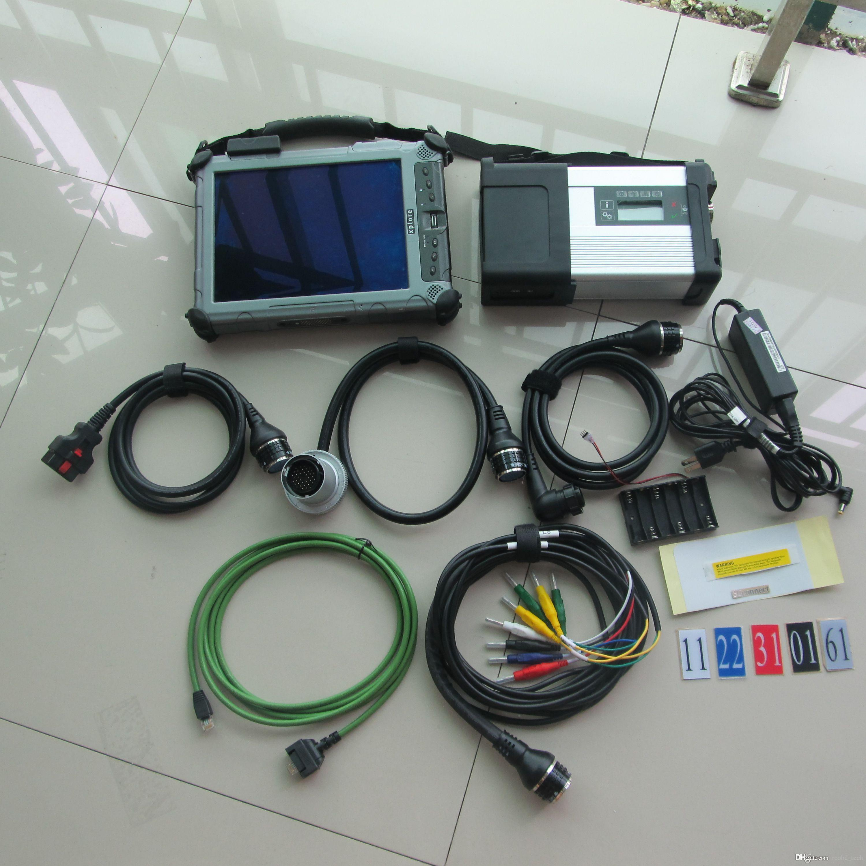 mb star sd connect c5 diagnostic tool with sd c5 v2019.09 ssd super speed in tablet ix104 c5 i7cpu laptop touch
