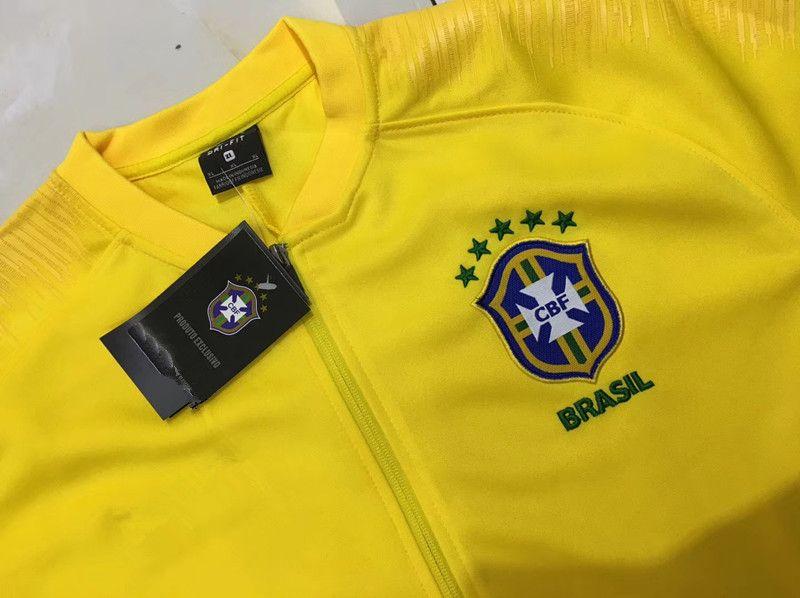 be42b4b83ed4e 2019 Futebol Conjunto Casaco Terno Casaco De Treino 18 World Cup  Brasileiros Casaco Agasalho Chandal Set From Laule9977