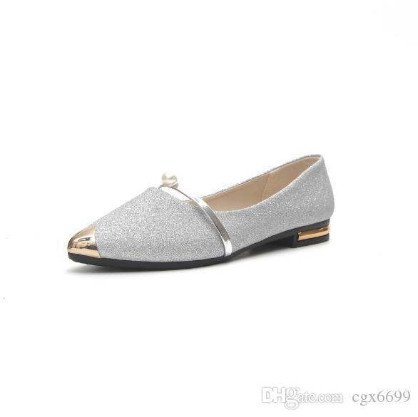 Одиночная обувь женский 2018 летний новый студент мелкий рот установить toe низкий каблук плоские туфли повседневная обувь