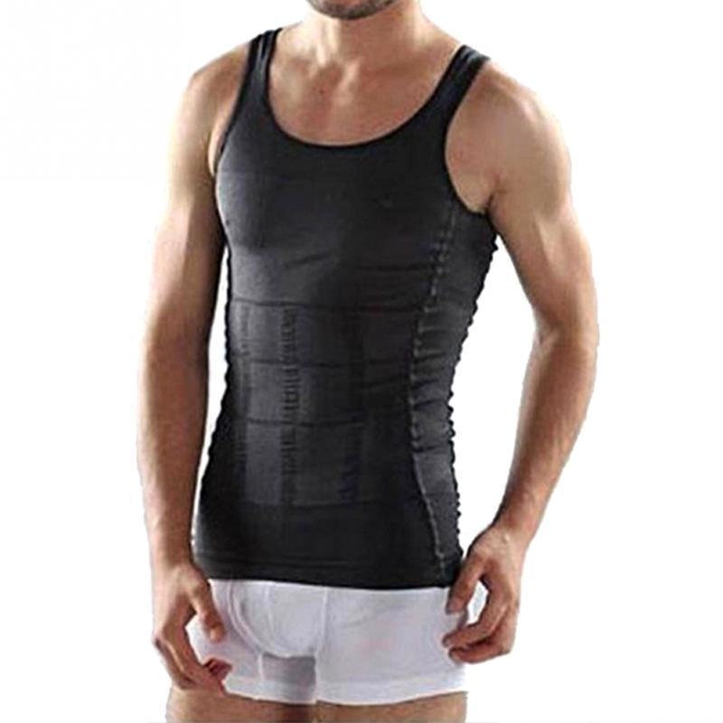 حار بيع الرجال أكمام التخسيس البطن الرجال المهنية الجسم المشكل فائقة مرونة الخصر حزام الصدرية