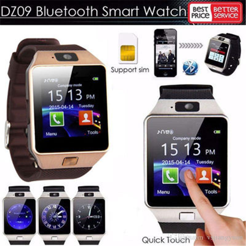 DZ09 Reloj inteligente Bluetooth Smartwatches Dz09 Relojes inteligentes con cámara Tarjeta SIM para teléfono inteligente Android SIM reloj inteligente en la caja al por menor